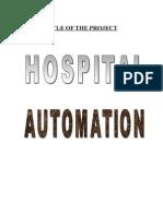 Hospital Automation System