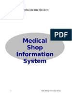 Medical Shop Automation System