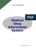Medical Shop Automation System