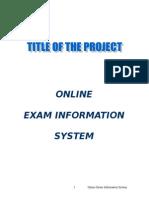 Online Exam Information System