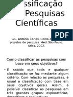 Classificação Das Pesquisas Científicas