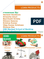 Idbi Loan Products