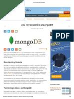 Una Introducción a MongoDB