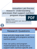 Nutrition Innovation Lab Process research