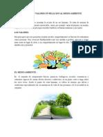Principios y Valores en Relacion Al Medio Ambiente Final