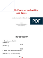 CA266 7 Posterior Probability and Bayes