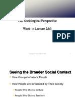 Socio Lecture # 2,3