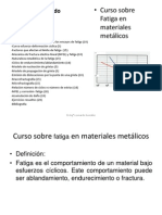 Curso Sobre Fatiga en Materiales Metálicos