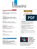 Sommaire Droit & Patrimoine n° 244 Fevrier 2015