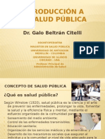 Introducción a La Salud Pública
