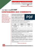 12 485 VOIX CGT CONFISQUÉES AUX CHEMINOTS