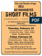 Stillwater Theatre Presents Oscar Nominated Shorts