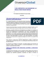 Informe Impuesto a Las Ganancias 2015