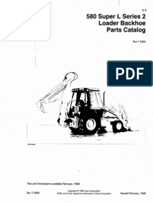MANUAL DE PARTES RETRO CASE 580SL SERIES 2  pdf | Loader (Equipment