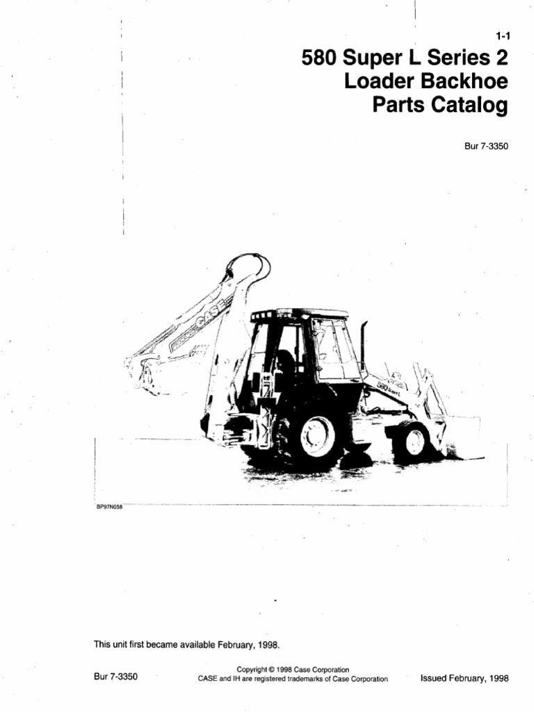 Manual De Partes Retro Case 580sl Series 2  Pdf