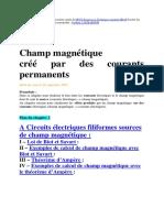 Champ magnétique créé par des courants permanents