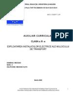 Exploatarea instalatiilor electrice ale mijlocului de transport.doc