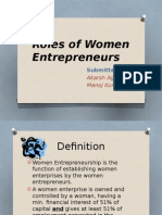 Roles of Women Enterpreneurs