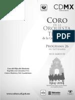 Coro OT Programa