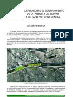 Autovía del Olivar - Doña Mencía - Nota informativa