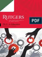Rutgers Phd Brochure