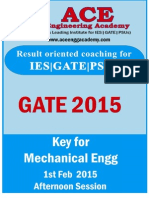 ACE ME GATE2015 1stFeb Afternoon