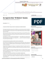 """10-02-15 Se Reporta Listo """"El Maloro"""" Acosta"""
