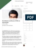11-02-15 No debería confiarse el PAN en Hermosillo