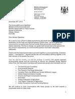 Brad Duguid Letter to Environment Minister