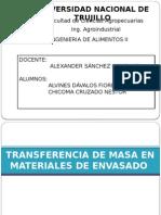 Transferencia de Masa en Materiales Envasados