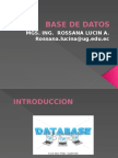 Base de Datos Introduccion Nov192014