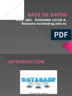 Base de Datos Introduccion Nov192014