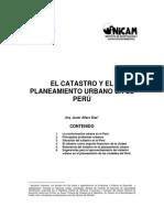 El Catastro y El Planeamiento Urbano en El Perú- Arq. Javier Alfaro Diaz - Año 2006