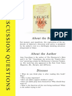 Savage Park by Amy Fusselman -- Discussion Questions