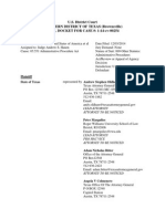 Pacer Docket Usdc Txsd Brownsville Civil No B-14-254 as of Feb 17 2015