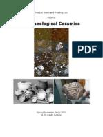Archaeological Ceramics Module Notes & Reading List (Nottingham) 2011-12