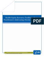 Toolkit for addressing Health Disparities