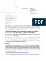 Letter to Susan Berry and IRB Executive Committee regarding study of SD-809 for tardive dyskinesia
