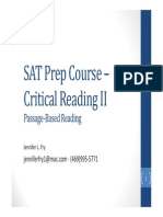 SAT Prep Course – Critical Reading II
