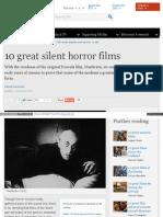 10 películas grandiosas de cine mudo de terror