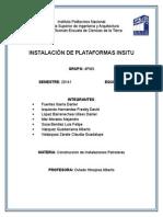 Instalación de Plataformas Insitu