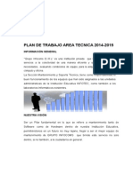 Plan de Trabajo de Infocoms