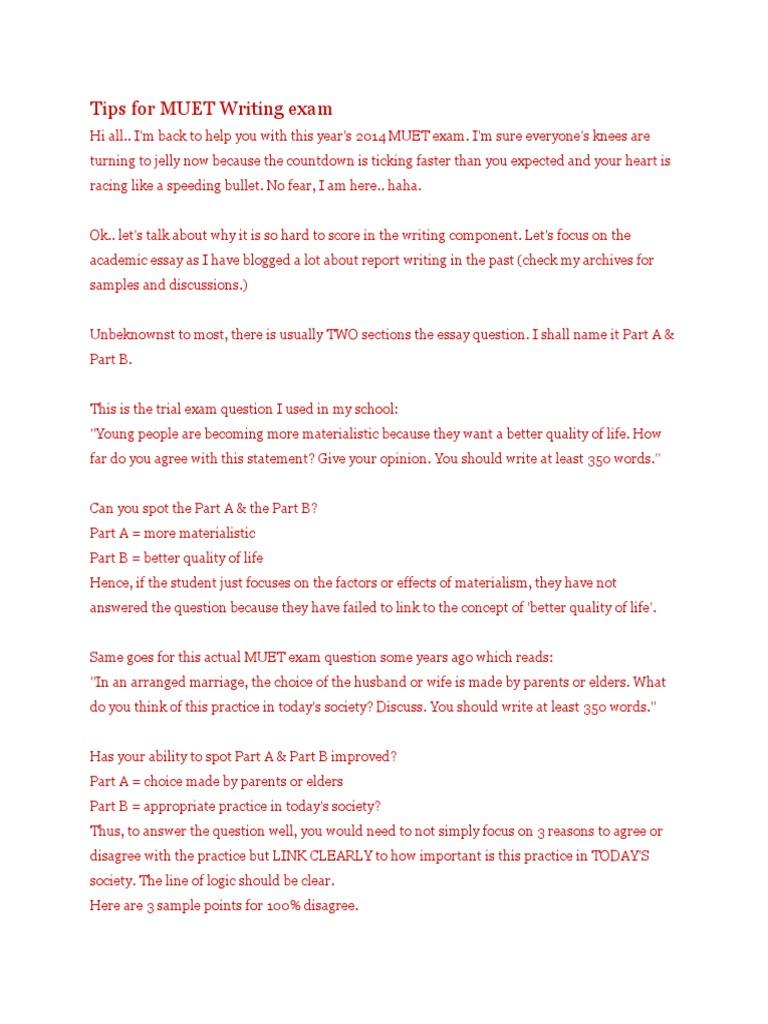 Tips for MUET Writing Exam | Marriage | Rape