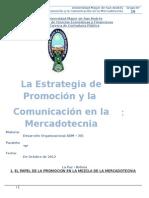Estrategia de Promocion y La Comunicacion en Lamercadotecnia