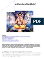 What Are Names and Function of Lord Datta