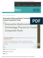 Innovative Hydrocavitation Process to Create Composite Fuels _ AIChE Academy
