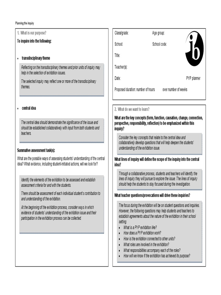 Contemporary Pyp Planner Template Pictures - Examples Professional ...