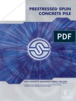 Dimension and Design Properties of Concrete Spun Piles