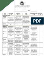 Report Assessment Rubric