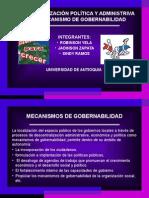 Descentralización Política y Administriva Como Mecanismo de Gobernabilidad